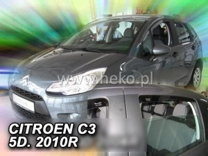 Wind deflectors CITROEN C3 II 5d 2009-2017 (rear deflectors included)