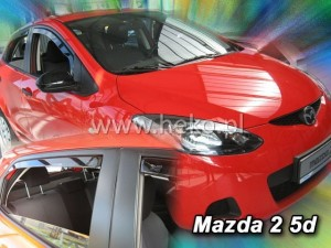 Wind deflectors MAZDA 2 III 5d 2009-2014 (rear deflectors included)