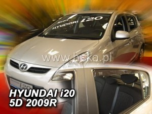 Wind deflectors HYUNDAI i20 I 5d 2009-2015 (rear deflectors included)