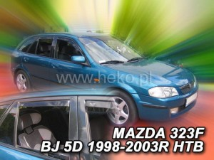 Wind deflectors MAZDA 323 BJ 5d 1998-2003 htb (rear deflectors included)