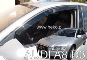 Wind deflectors AUDI A8 (D3) 4d 2003-2010 (front only)
