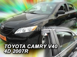 Wind deflectors TOYOTA Camry XV40 4d 2006-2011 sedan (rear deflectors included)