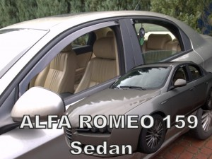 Wind deflectors ALFA ROMEO 159 4d sedan (rear deflectors included)