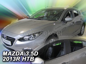 Wind deflectors MAZDA 3 III 4/5d 2013-2018 htb sedan (rear deflectors included)