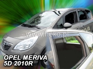Wind deflectors OPEL Meriva 5d 2010-> (rear deflectors included)