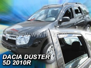 Wind deflectors DACIA Duster I 5d 2010-2018 (rear deflectors included)