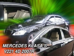 Wind deflectors MERCEDES S V221 4d 2007-2013 (long) (rear deflectors included)