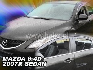 Wind deflectors MAZDA 6 II 5d 2007-2013 GH sedan (rear deflectors included)
