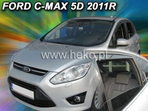 Wind deflectors FORD C-max 5d 2011-> (rear deflectors included)
