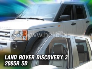 Wind deflectors LAND ROVER Discovery III 5d 2005-2009 (rear deflectors included)