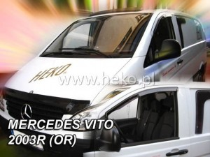 Wind deflectors MERCEDES Vito / Viano 4/5d 2003-2014 (stick-on) (front only)