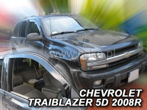 Wind deflectors CHEVROLET Trailblazer 5d 2002-2009 (front only)