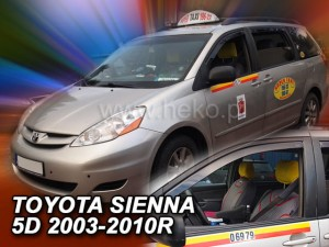 Wind deflectors TOYOTA Sienna II 5d 2003-2010 (front only)