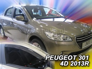 Wind deflectors PEUGEOT 301 4d 2013-> (front only)