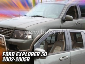 Wind deflectors FORD Explorer III 5d 2002-2005 (rear deflectors included)