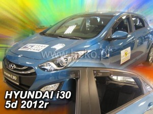 Wind deflectors HYUNDAI i30 5d 02.2012-2017 htb (rear deflectors included)