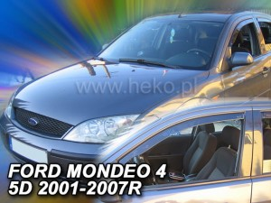 Wind deflectors FORD Mondeo MK3 4d 2001-2007 (front only)