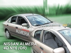 Wind deflectors NISSAN Almera N16 4/5d 2000-2006 (stick-on)