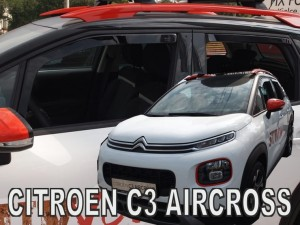 Wind deflectors CITROEN C3 Aircross 5d 2017-> (rear deflectors included)