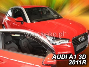 Wind deflectors AUDI A1 3d 2010-2018 (front only)