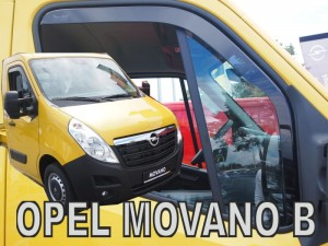 Wind deflectors OPEL Movano B 2010-> (long)
