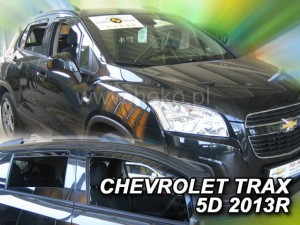 Wind deflectors CHEVROLET Trax 5d 2013-> (rear deflectors included)