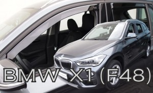 Wind deflectors BMW X1 F48 5d 2015-> (rear deflectors included)
