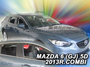 Wind deflectors MAZDA 6 III GJ 5d 2013-> wagon (rear deflectors included)