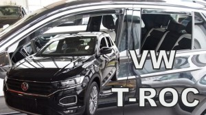 Wind deflectors VOLKSWAGEN T-Roc 5d 2017-> (rear deflectors included)