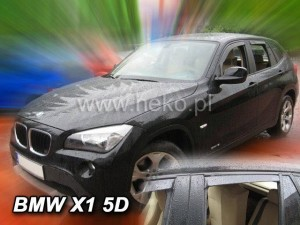 Wind deflectors BMW X1 E84 5d 2009-2016 (rear deflectors included)