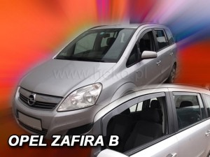 Wind deflectors OPEL Zafira B 5d 2005-2011 (rear deflectors included)