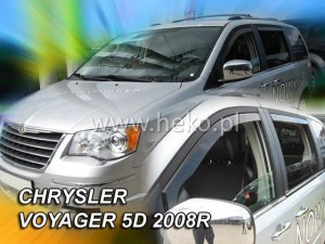 Wind deflectors CHRYSLER Voyager Grand 5d 2008-> / DODGE Grand Caravan 2008-> / LANCIA Voyager Gold 5D 2012->