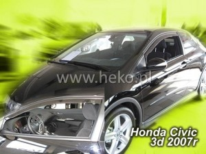 Wind deflectors HONDA Civic VIII 3d 02.2007-2012