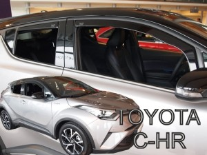 Wind deflectors TOYOTA C-HR 5d 2016-> (rear deflectors included)