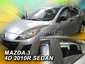 Wind deflectors MAZDA 3 II 4d 2008-2014 sedan (rear deflectors included)