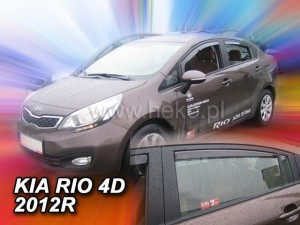 Wind deflectors KIA RIO III 4d 2012-> (rear deflectors included) sed