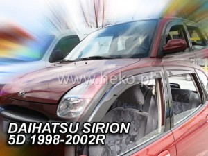 Wind deflectors DAIHATSU Sirion 5d 1998-2005 (rear deflectors included)