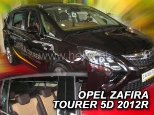 Wind deflectors OPEL Zafira C Tourer 5d 2012-> (rear deflectors included)