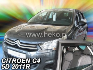 Wind deflectors CITROEN C4 II 5d 2010-> (rear deflectors included)