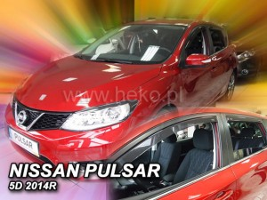 Wind deflectors NISSAN Pulsar 5d 2014-> (rear deflectors included)