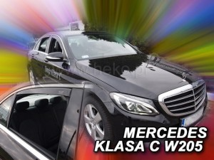 Wind deflectors MERCEDES C W205 4d 2014-> sedan (rear deflectors included)
