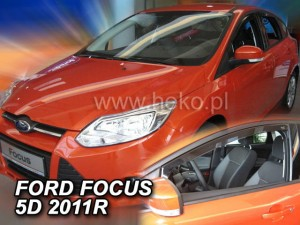 Wind deflectors FORD Focus MK3 4/5d 2011-2018 (front only)