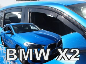 Wind deflectors BMW X2 F39 5d 2018-> (rear deflectors included)
