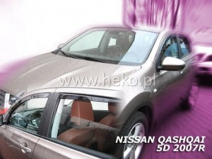 Wind deflectors NISSAN Qashqai 5d 2007-2013 (rear deflectors included)
