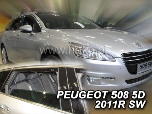 Wind deflectors PEUGEOT 508 5d 2011-2018 SW (rear deflectors included)
