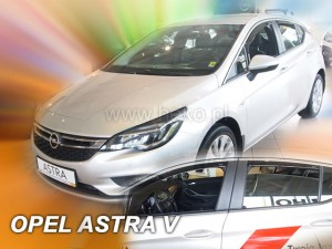Wind deflectors OPEL Astra V K 5d 2015-> htb (rear deflectors included)