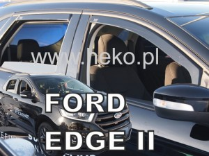 Wind deflectors FORD Edge 5d 2016-> (rear deflectors included)