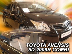 Wind deflectors TOYOTA Avensis T27 4d 2009-> wagon (rear deflectors included)