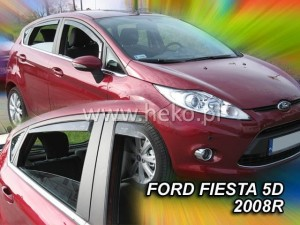 Wind deflectors FORD Fiesta MK6 5d 2008-2017 (rear deflectors included)