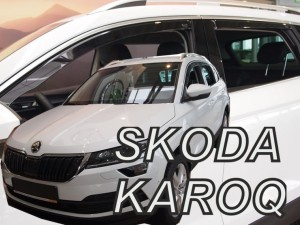 Wind deflectors SKODA Karoq 5d 2017-> (rear deflectors included)
